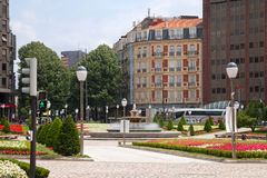 View to the centre of Bilbao. Stock Images
