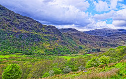 View to chain of mountains in Snowdonia National Park Stock Photography