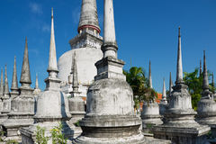 View to the Chedi Phra Baromathat in Nakhon Sri Thammarat, Thailand. Stock Images