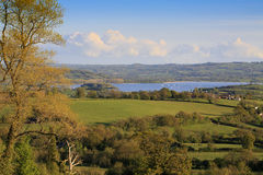 View to Chew Valley Lake reservoir. On a sunny evening Royalty Free Stock Photos