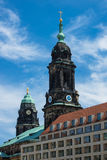 View to a church in Dresden Stock Photography