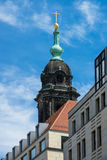 View to a church in Dresden Stock Image