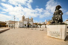View to church Igreja de Santo Antonio in the old town of the historic centre of Lagos, Algarve Royalty Free Stock Photos