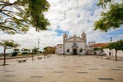 View to church Igreja de Santo Antonio in the old town of the historic centre of Lagos, Algarve Stock Photos
