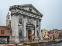 View to Church Il Gesuati or Church Santa Maria del Rosario Royalty Free Stock Photo