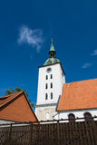 View to a church in Loitz Royalty Free Stock Photo
