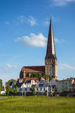 View to a church in Rostock Stock Image
