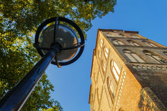 View to a church in Rostock, Germany Royalty Free Stock Image