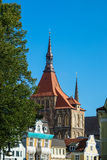View to a church in Rostock, Germany Stock Photography