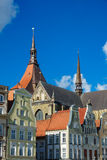 View to a church in Rostock, Germany Royalty Free Stock Photo