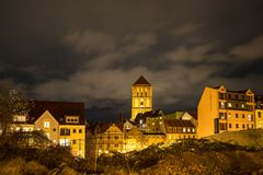 View to the a church in Rostock, Germany Stock Photos