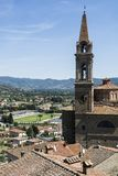 Church San Giuliano and stadium Stock Photo