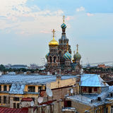 View to the Church Savior on Blood in St-Petersburg, Russia. Royalty Free Stock Images