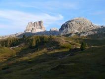 Averau from Passo Falzarego - Dolomites - Italy. View from Pass (Passo) Falzarego in Dolomites Italy Stock Image