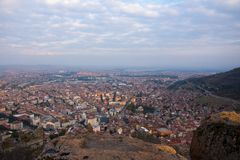 View to the city of Afyonkarahisar from castle. Looking Afyon from the castle Royalty Free Stock Image