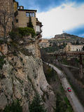 View to city Cuenca and strange rock formations Royalty Free Stock Photography
