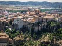 View to city Cuenca and strange rock formations Royalty Free Stock Images