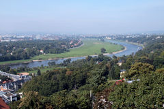View to the city of Dresden Stock Photo