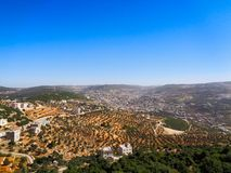 View to the city of jordan. Blue sky stock photography