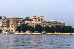View to the City Palace in Udaipur Royalty Free Stock Photo