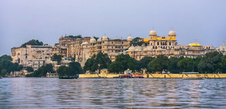 View to the City Palace in Udaipur Stock Photography
