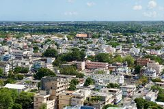 View to the city of Port Louis, Mauritius. Royalty Free Stock Images