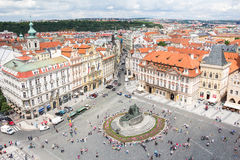 View To The City Of Prague From Old Town Hall Tower In Czech Republic Royalty Free Stock Photos