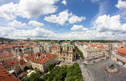 View To The City Of Prague From Old Town Hall Tower In Czech Republic Royalty Free Stock Photography