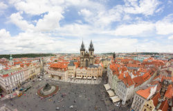 View To The City Of Prague From Old Town Hall Tower In Czech Republic Royalty Free Stock Images
