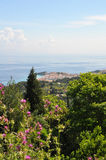 View to the city of Samos, greece Royalty Free Stock Photos