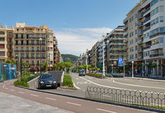 View to the city San Sebastian or Donostia. Stock Photography