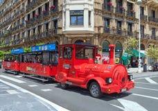 View to the city San Sebastian or Donostia. stock image
