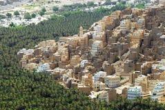 View to the city of Seiyun, Hadramaut, Yemen. Royalty Free Stock Photos
