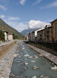 View to the city of Tirano. Royalty Free Stock Image
