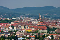 View to the city of Vienna. Stock Photos