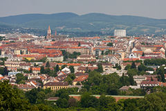 View to the city of Vienna. Royalty Free Stock Image