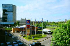 View to the city of Vilnius - residential complex Vilnius Gates Royalty Free Stock Images