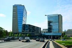 View to the city of Vilnius - residential complex Vilnius Gates Stock Image
