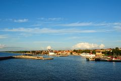 View to city visby in gotland stock images