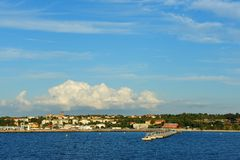 View to city visby in gotland stock photography
