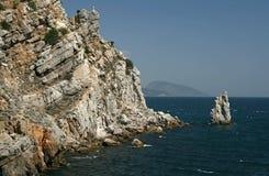 View to cliff 'Sail'. The Crimea. Ukraine Stock Photos