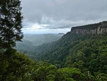 View to the coastline from Canyon lookout on the Springbrook Mountain, Gold Coast stock image