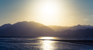 View to coastline of Red sea Stock Images