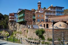 Famous old town of Tbilisi, Georgia royalty free stock image