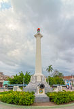 View to the column dedicated to the Liberation Army of Cuba Stock Image