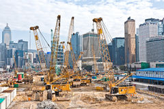 View to the construction sites near Stock Images