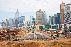 View to the construction sites near Royalty Free Stock Photo
