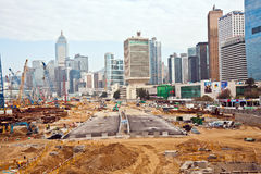 View to the construction sites Stock Images