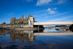 View to Conwy castle Royalty Free Stock Image