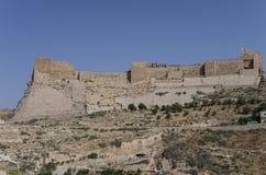 View to the crusader castle Kerak (Al karak) Stock Image